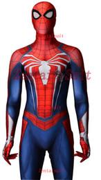 $enCountryForm.capitalKeyWord Australia - ostumes Accessories Cosplay Costumes 2018 Newest NEW PS4 INSOMNIAC SPIDERMAN SUIT 3D Print Spandex Games Spidey Cosplay Spiderman Costume...