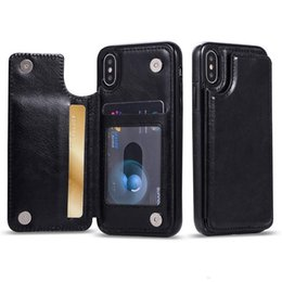 Wholesale For iPhone Xs Max Xr S10 Lite Plus Wallet Case Luxury PU Leather Cell Phone Back Case Cover with Credit Card Slots