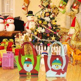 Discount sac main marque femme - Christmas Santa Claus Snowman Christmas Gift Handbag Candy Bag Sac A Main Femme De Marque