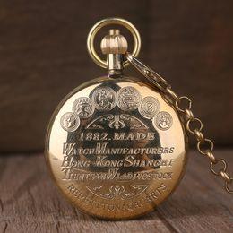 $enCountryForm.capitalKeyWord Australia - Fashion Classic Golden Hand Wind Mechanical Pocket Watch High Quality Roman Number Dial Pendant Chain Fob Watch