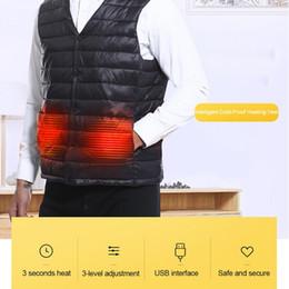 $enCountryForm.capitalKeyWord Australia - Smart Heater Hunting Vest Heated Jacket Heating Winter Clothes Men Thermal Outdoor Sleeveless Vest Hiking Climbing Fishing