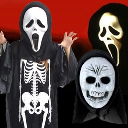 Discount ghost toys - Halloween Ghost Skull Skeleton Mask Full Face Party Scary Toy Trick Funny
