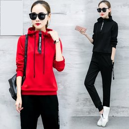 6bfad0e4e83 Youth clothing for Women sports suit Knitted pullover Two piece set top and  pants Spring autumn 2piece set womens clothes K4414