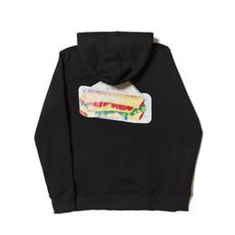 Discount triangle sweatshirt - Mens Fashion Brand Hooded Sweatshirts Hamburg Sandwich Triangle Pattern Print Hoodies Tops Hommes Loose Hip Hop Hoodies