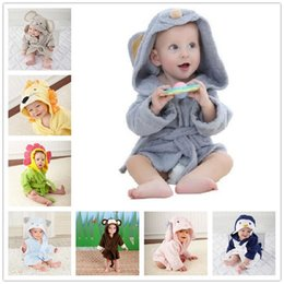 Discount star print baby blanket - Cute Mouse Children Bathrobe Newborn Blankets Baby Boy Bath Towels Hooded Girl Coat Terry Clothes Set Photography Props
