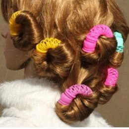 Diy Curls Hair Rollers Australia - 8Pcs New Magic Donuts Hair Styling Roller Hairdress Magic Bendy Curler Spiral Curls DIY Tool For Woman Hair Accessories
