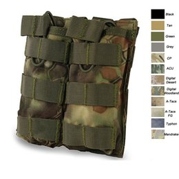 Molle Mag bag online shopping - Airsoft Gear Molle Bag Vest Accessory Camouflage Pack Cartridges Clip Carrier Ammo Holder Tactical Mag Double Magazine Pouch NO11