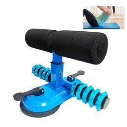 double suction cups UK - Self-suction Sit-up Bar Double-row Support Rod Adjustable Sit-up Floor Bar With 2 Suction Cups Four Height Training Equipment