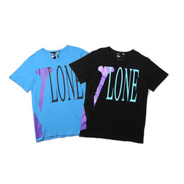 vlone tees NZ - Vlone New Mens Stylist T Shirt Vlone Men Women High Quality Black Blue T Shirt Hip Hop Tees Size S-XL
