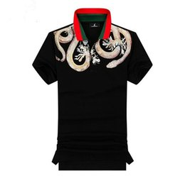 Red Hot Polo Australia - Hot poney chemise camisa t-shirt men Golf polo shirts Business man Snake casual sports tee short sleeve Lapel t shirts