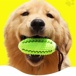 football toys wholesale Australia - Pet Dog Toys Toy Funny Interactive Elasticity Ball Dog Chew Toy For Dog Tooth Clean Ball Of Food Extra-tough Rubber Football