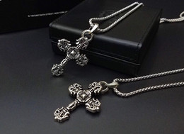 Pendant cross design for men online shopping - Popular fashion brand cross designer necklace Sweater chain for lady Design man and Women Party Wedding Lovers gift Luxury Hip hop Jewelry