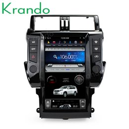 "car gps for toyota prado Australia - Krando Android 6.0 13.6"" style Vertical screen car multimedia player GPS for Toyota Prado 150 2014+ navigation radio player BT car dvd"