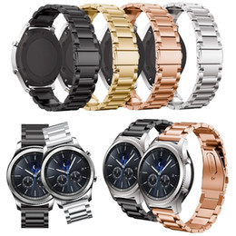Triple Gear Australia - New Arrival Metal Watch Band for Samsung Gear S2 S3 S4 Classic Stainless Steel Triple Bead Watchband Huami Huami 2 Ticwatch