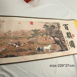 $enCountryForm.capitalKeyWord Australia - Chinese Landscape Painting All The Pretty Horses Traditional Chinese Painting Silk Collection Paintings Decorative Painting Ink And Wash