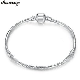 indian bangles accessories Australia - choucong Snake Chain Bangle Bracelet 925 Sterling Silver Filled Statement Party Wedding bracelets for women accessory Jewerly