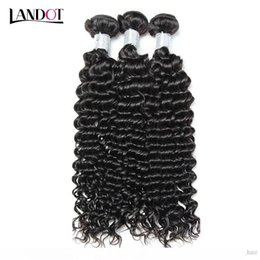 virgin cambodian kinky hair NZ - Brazilian Deep Curly Virgin Human Hair Weaves 3 4 5 Bundles Peruvian Indian Malaysian Cambodian Mongolian Kinky Curly Remy Hair Extensions