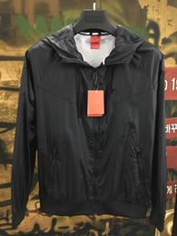 Long Windbreaker Jackets Australia - Brand Windbreaker Jackets Men Women Hooded Zipper Thin Sports Jacket Coats