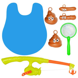 Net Games Australia - Bathroom Fishing Game Biological Cognitive Gaming Toys Set with Rod Net