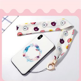 Mobile phone decorations online shopping - Multi function Silk Scarf Mobile Phone Straps Rope For Iphone X XR XS MAX Lanyard Neck Strap Phone Decoration For Samsung