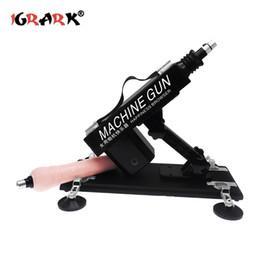 Großhandel Automatische Sex Maschine Geschlechtsverkehr Sex Maschinen Pistole mit Dildo Schubgeschwindigkeit Einstellbare Maschinen Sex Möbel