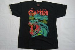 GO TO HELL ОДЕЖДЫ REX T SHIRT NEW METAL GOTH PUNK EMO RARE Streetwear