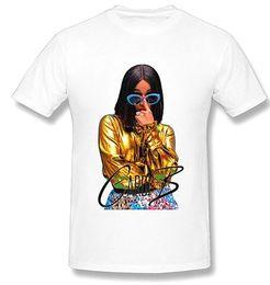 Ingrosso Femmina Rapper Cardi B Cool Print Tshirt bianco girocollo Designer manica corta Cacual abiti femminili