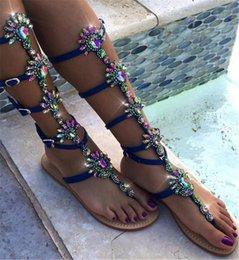 $enCountryForm.capitalKeyWord Australia - DoraTasia Brand Design Big Size 47 customized leisure best Quality Women Shoes Woman Summer csystals Flat gladiator sandals