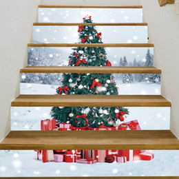 StickerS decoration StairS online shopping - 1pc Waterproof PVC Stair Stickers Snowman Santa Claus Christmas Floor Stairway Stickers Christmas Decoration For Home