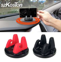 car phone stand stick 2019 - 360 Degree Car Phone Holder Dashboard Sticking Mobile Phone Holder Stand Mount For Less 6 inch Phone Desk Stand Support