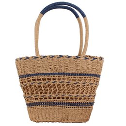 $enCountryForm.capitalKeyWord UK - Newest Hot Women Summer Beach Tote Bag Ladies Casual Holiday Wicker Straw Rattan Hollow Out Hand Woven Bags