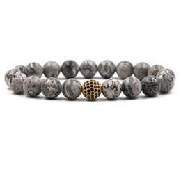 Men balls pictures online shopping - New Personality mm Picture Natural Stone Beads Bracelet Bangle Micro Inset Zircon Ball Elastic Bracelet Jewelry for men women
