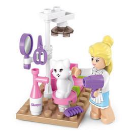 $enCountryForm.capitalKeyWord Australia - SLUBAN Girl Friends Pet Grooming Store Model Building Blocks Enlighten DIY Action Figure Toys For Children Compatible Legoe AIJILE