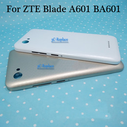 zte back cover NZ - White Gold 5.0 inch For ZTE Blade A601 BA601 Back Battery Cover Door Housing case Rear Glass parts Free Shipping