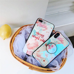 Apple bAlloons online shopping - English small fresh blue imd soft shell vibrating air balloon bracket for iphone678XS mobile phone shell