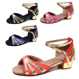 Ballroom Latin Tango Shoes Australia - Ballroom indoor Shoes Dancing Shoes Child Latin Tango Cheap Girl Discount Brand Shoes Heel Hight 3.5cm 606