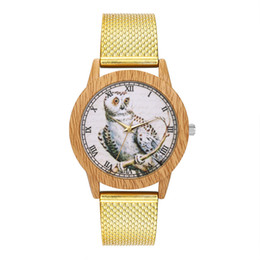 $enCountryForm.capitalKeyWord UK - Women Fashion Silica Gel Band Analog Quartz Round Wrist Watch Gift Women's owl Pattern Dial Quartz Watches relogio masculino