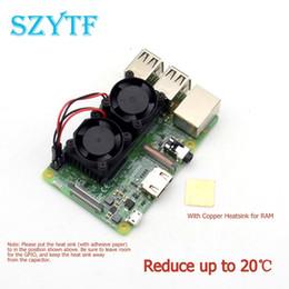 Raspberry Fan Australia - dual fan High quality dual fan cooling kit with copper For Raspberry Pi 3 2 Model BB+ NESPi Retroflag