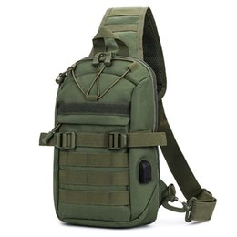 chest bag hiking Canada - Outdoor Sport Tactical Chest Shoulder Corssbody Molle Bag Portable Backpack For Hiking Camping Travel Bag Backpacks