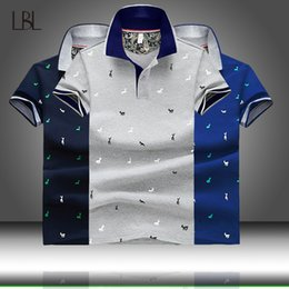 $enCountryForm.capitalKeyWord Australia - 2019 Summer Deer Printed Stand Collar Polo Shirt Men Short Sleeve Casual Mens Shirts Slim Fit Polo Homme Cotton Men's Polos Male