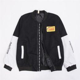$enCountryForm.capitalKeyWord Australia - BDLJ2018 Women Men coat brand baseball Clothing outerwear Japanese style MA1 bomber jacket pilot street printing Jacket T5190617