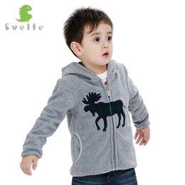 $enCountryForm.capitalKeyWord NZ - Svelte Brand Animal Embroidery Autumn Winter Coat Boys Kids Fur Coat Fleece Hooded Jacket Clothes Children Sweatshirts Jersey