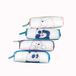 $enCountryForm.capitalKeyWord Australia - Cartoon Silicone Cute We Bare Bears Pencil Case Stationery Storage Organizer Bag School Office Supply Gift Stationery