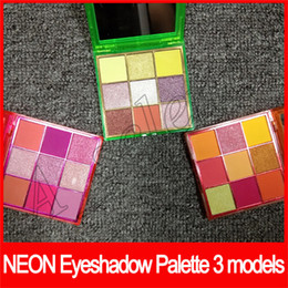 Pink shimmer eyeshadow online shopping - 2019 New Beauty Eye Makeup Beauty Neon PINK ORANGE GREEN Eyeshadow Palette Obsessions Colors Shimmer Shinning Matte Eye Shadow by epacket