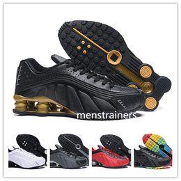 huge discount 626d9 efb75 Gold Rainbow Shox R4 Herren Designerschuhe Chaussures R4 Basketballschuhe  Zapatillas Hombre Nz Herren Sport Trainer Tn Größe Eur40-46