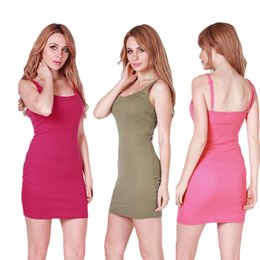 bodycon tank Canada - 20ss designer Fashion Women Sexy Backless Basic Dresses Sleeveless Slim Vestidos Vest Tanks Bodycon Dress Strap Solid Party Dress wholesale
