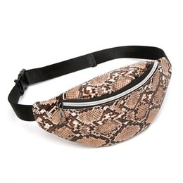 travel bum bags leather Australia - Fashion Waist Bags for Women 2020 Serpentine Leather Belt Bag Lady Street Fanny Pack Female Chest Packs Travel Phone Bum Bag
