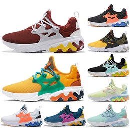 shoes mens presto Australia - BEAMS x React Presto DHARMA Women Running Shoes Witness Protection Barely Volt Rabid Panda Triple Black Red Reacts Mens Trainers Sneakers