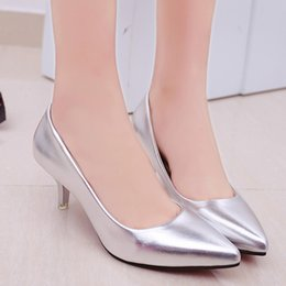 5c72e2c7835 2019 Dress Four Seasons Patent Peather Low Heels Shoes Women Professional Shoes  Ladies Shallow Mouth Work Black White Office Shoes