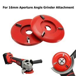 $enCountryForm.capitalKeyWord Australia - 90mm Diameter 16mm Bore Red Power Wood Carving Disc Angle Grinder Attachment